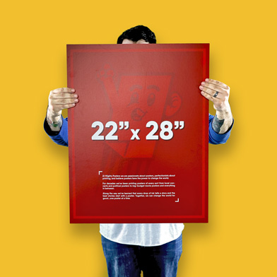 """22"""" x 28"""" Poster Size"""
