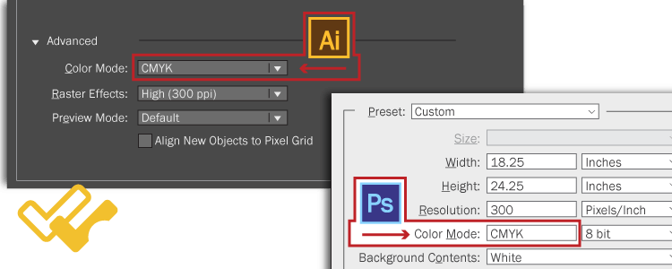 Poster printing color settings for Adobe suite